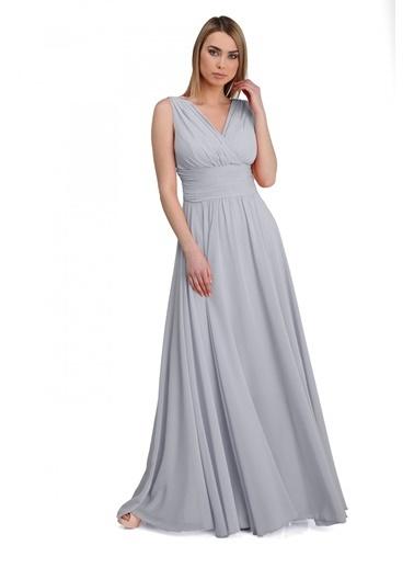 Pierre Cardin Uzun Abiye Elbise Gri